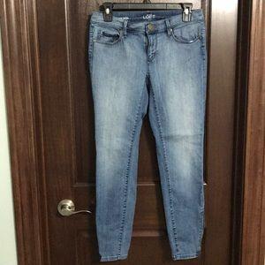 Loft Modern Skinny Ankle Zip Jeans